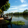 Blue sky in Alleppey.